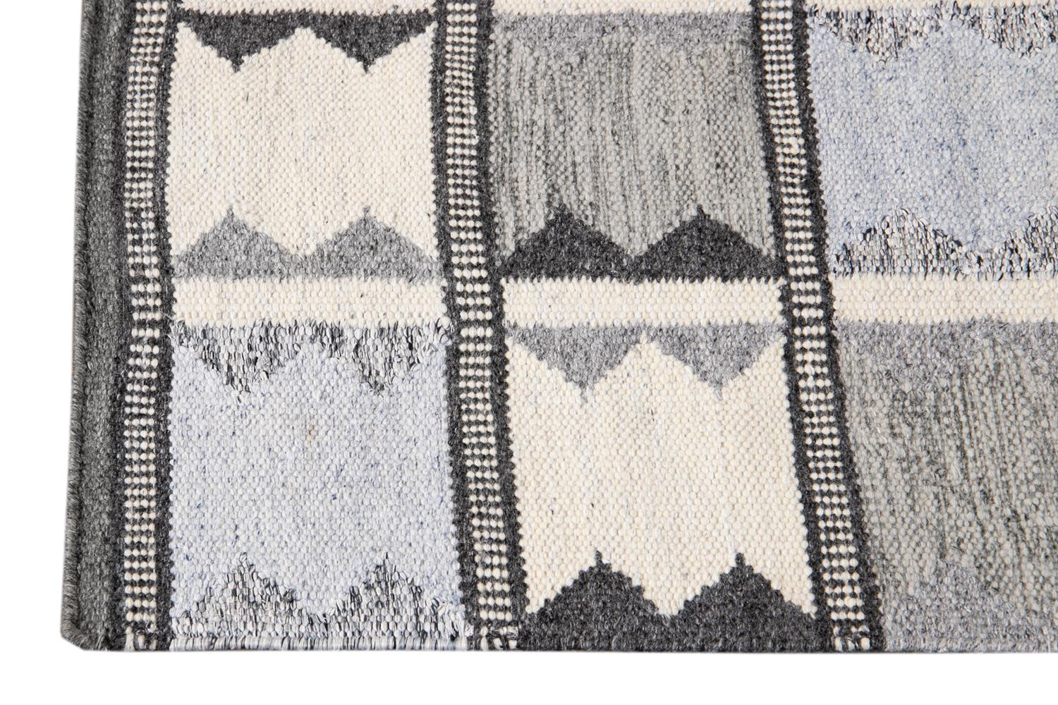 21st Century Contemporary Swedish Style Runner Rug, 3' x 12'
