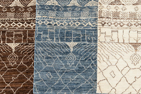 Contemporary Moroccan-Style Custom Wool Rug