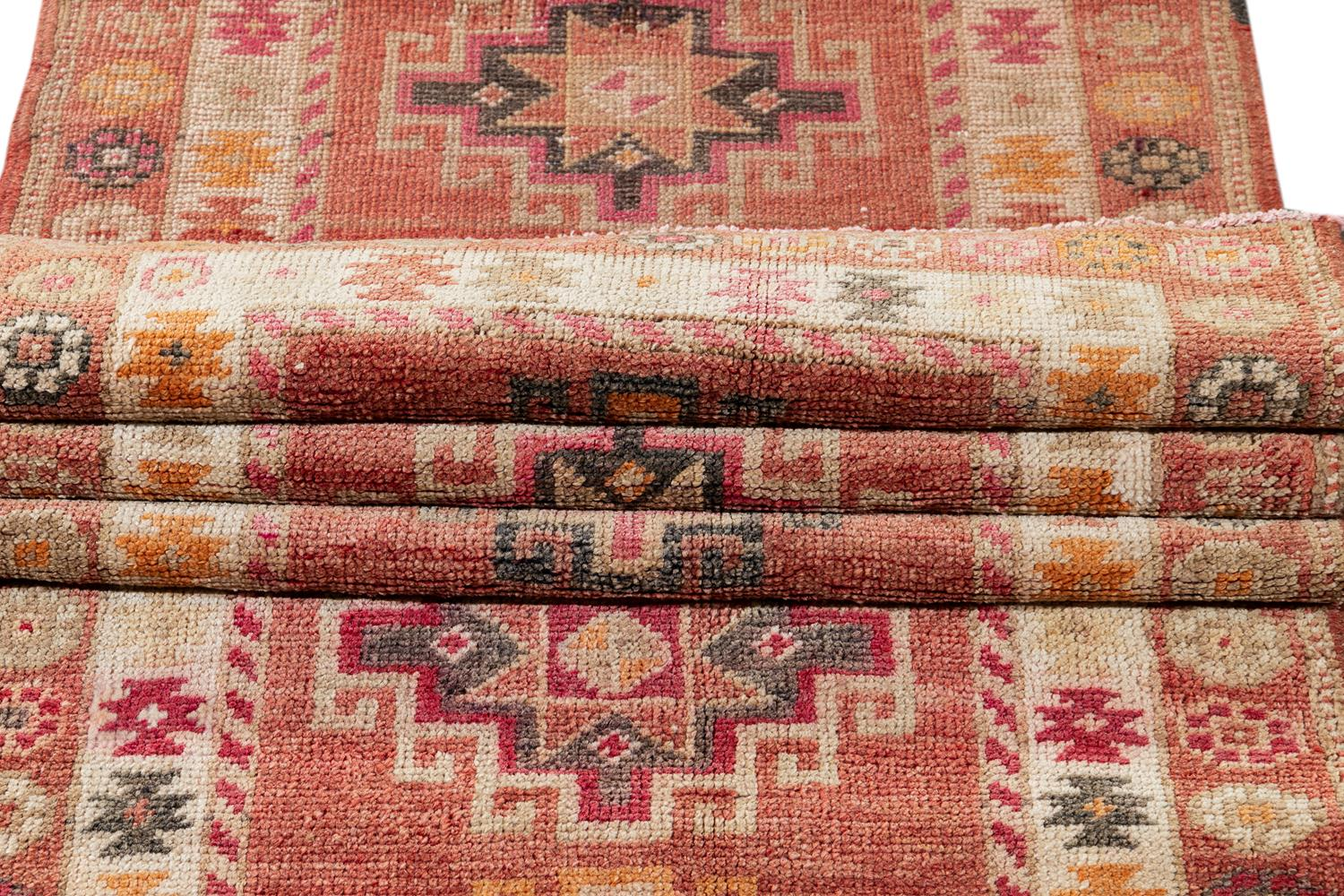 Early 20th Century  Anatolian Village Runner Rug 3' x 11'