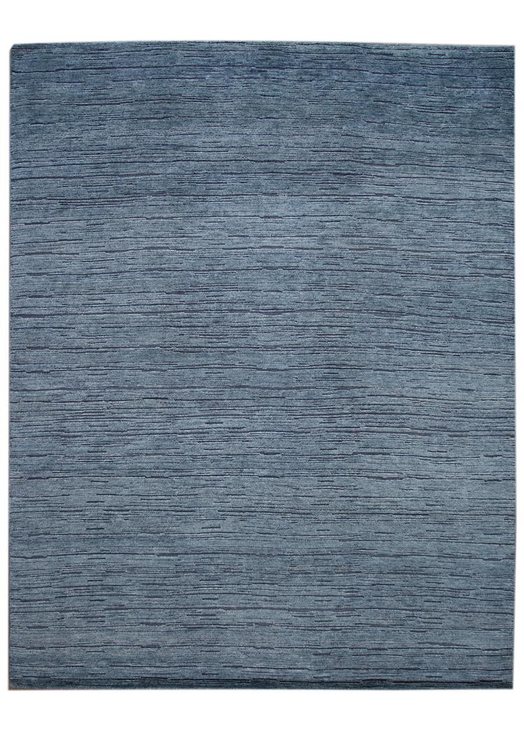 21st Century Modern Textured High Low Wool Rug, 9' x 12'