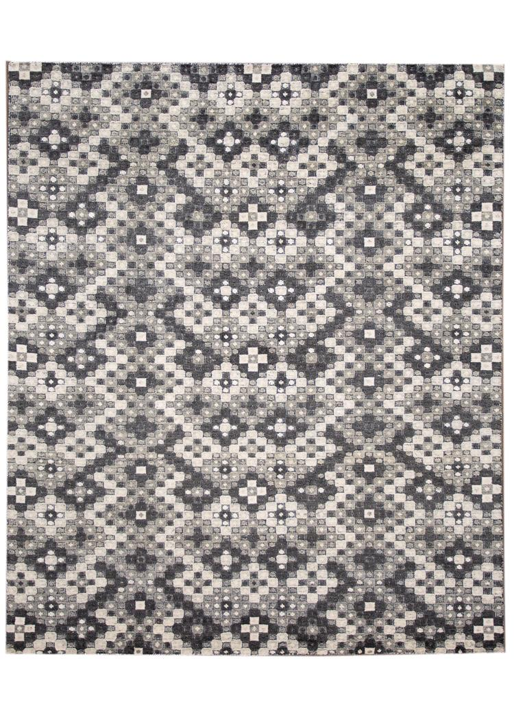 21st Century Contemporary Distressed Wool Rug, 8' x 10'
