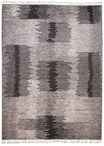 21st Century Contemporary Textured Ribbed Wool Rug, 11' x 14'