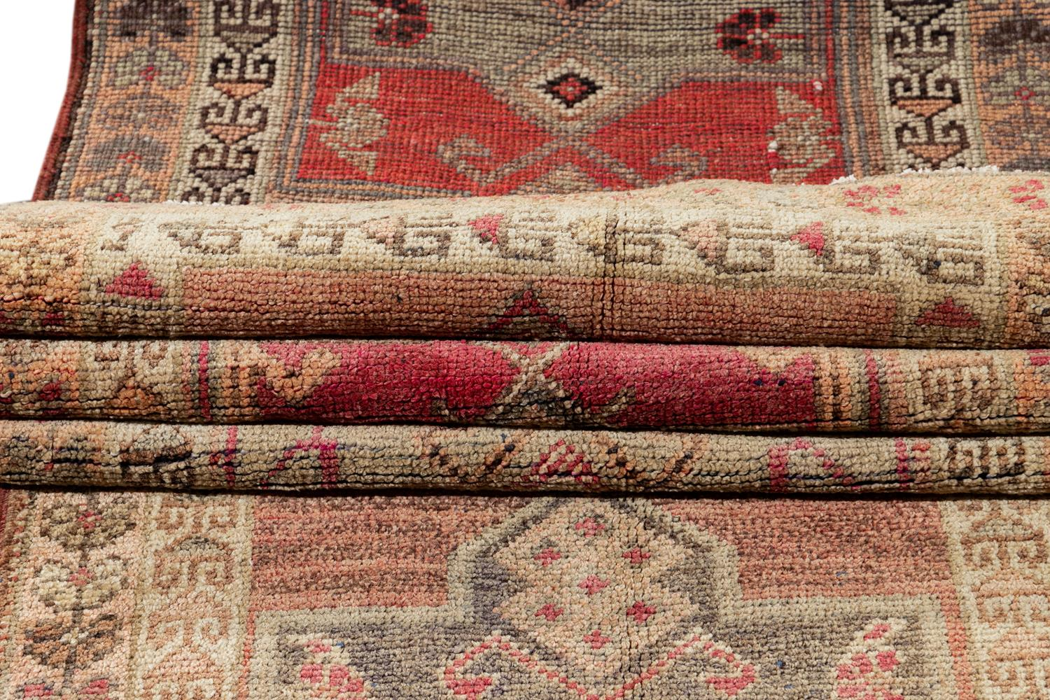 Early 20th Century Anatolian Village Runner Rug 3' x 15'