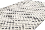 21st Century Contemporary Textured High Low Wool Rug, 10' x 14'
