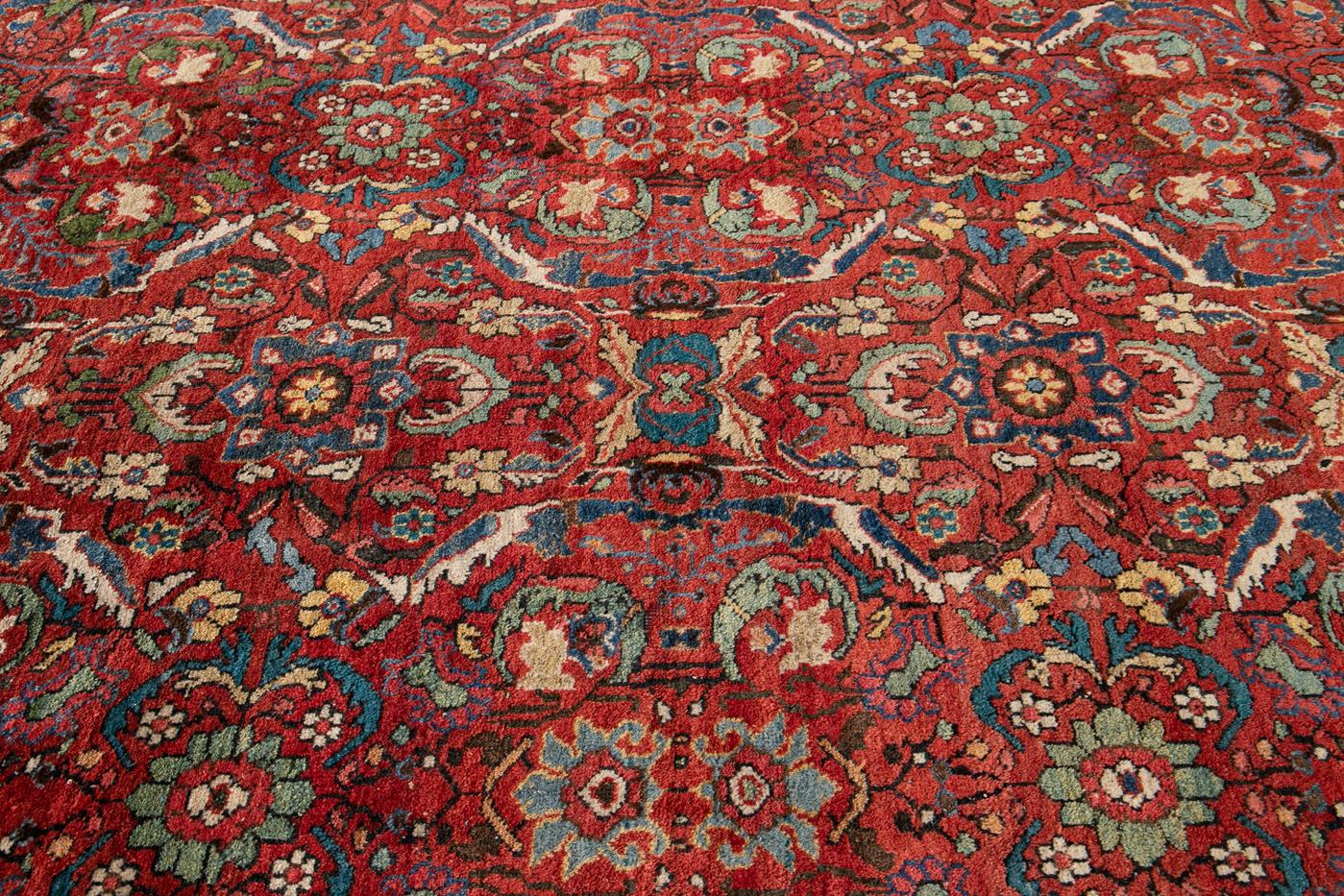 Early 20th Century Antique Persian Mahal Rug 10' x 17'