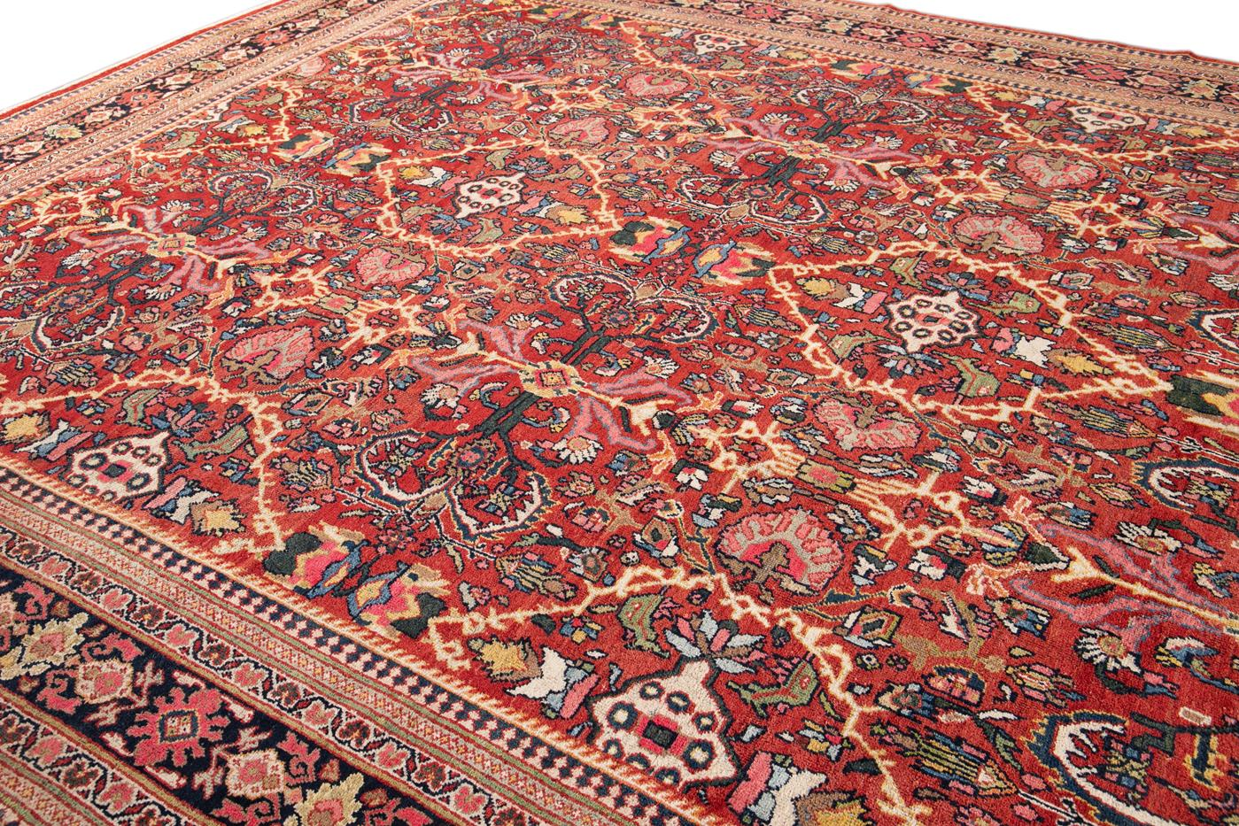 Early 20th Century Antique Persian Mahal Rug 12' x 18'
