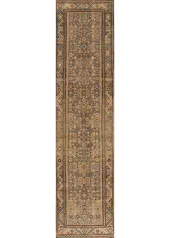 Antique Malayer Rug, 3' X 14'