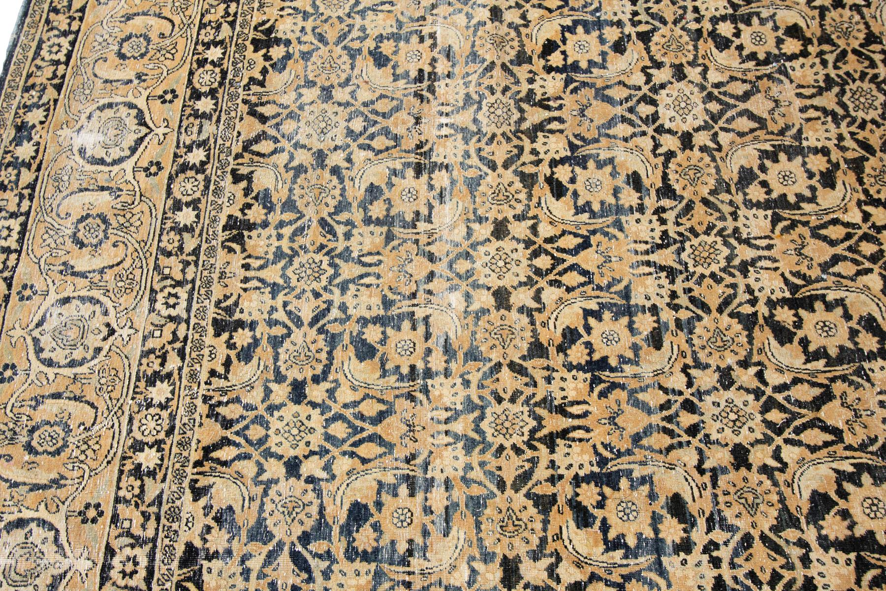 Antique Persian Tabriz Rug, 10X14
