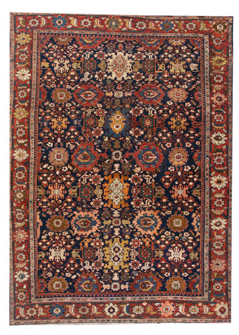Antique Malayer Rug, 13X18