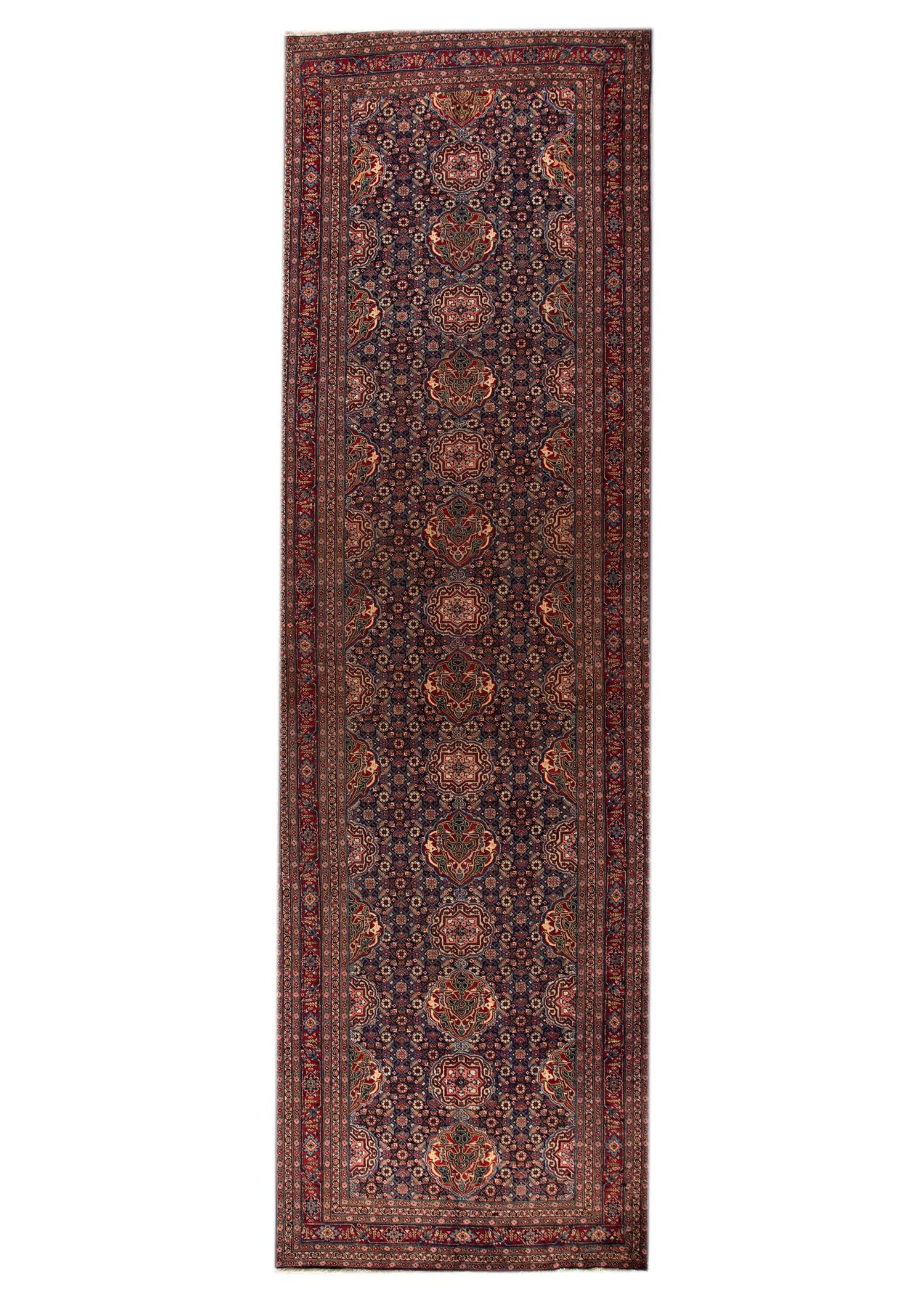 Antique Persian Tabriz Rug, 6 X 19