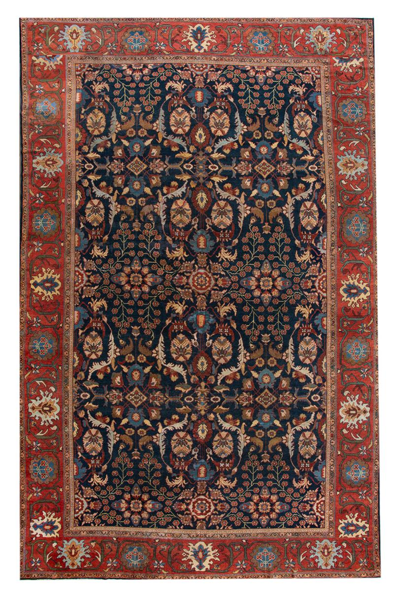 Antique Persian Sultanabad Rug, 13X22