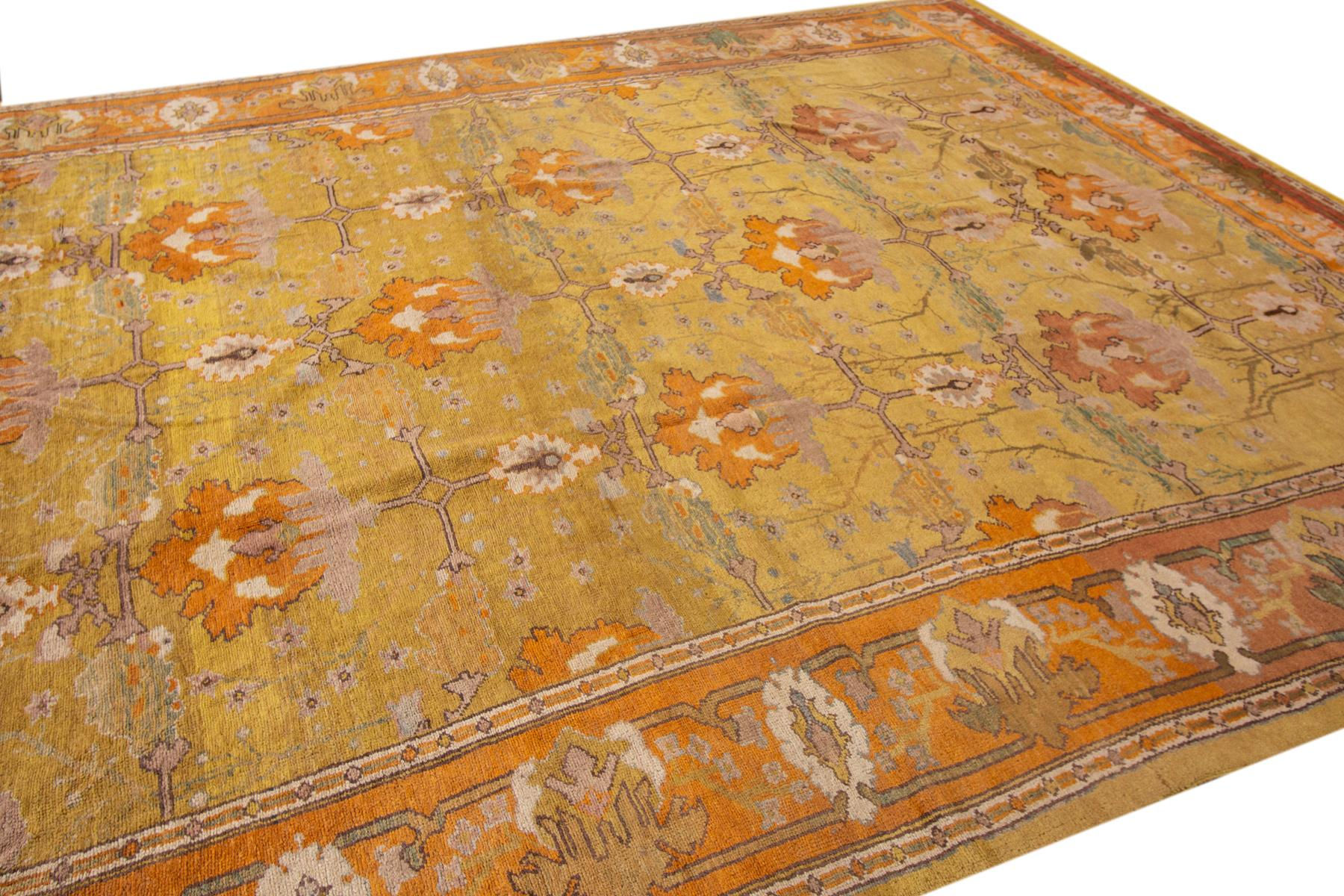 Vintage Style Donegal Arts and Crafts Rug, 10X14