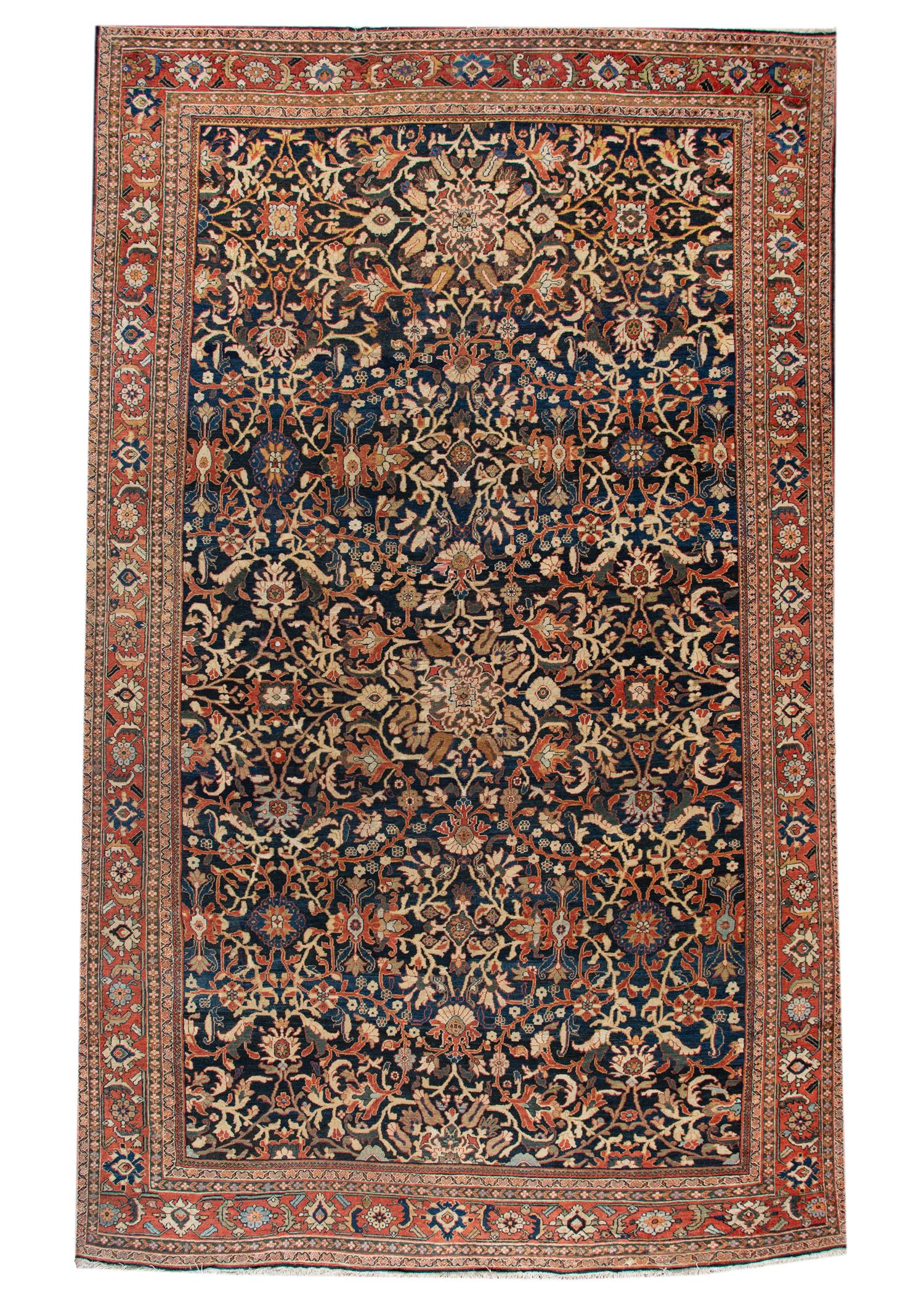 Antique Persian Sultanabad Rug, 13X23
