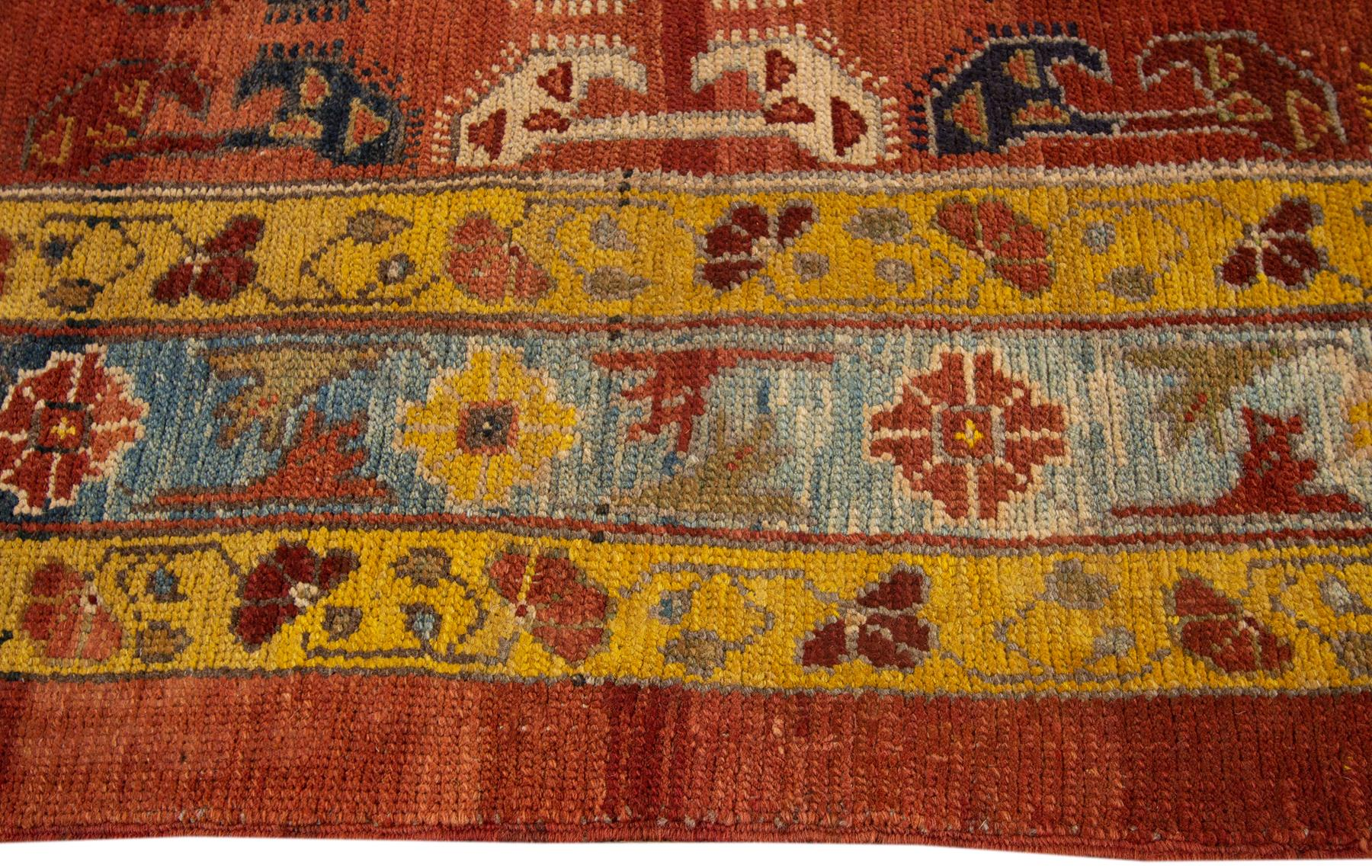 Vintage Persian Tribal Bakshaish Rug, 7X11
