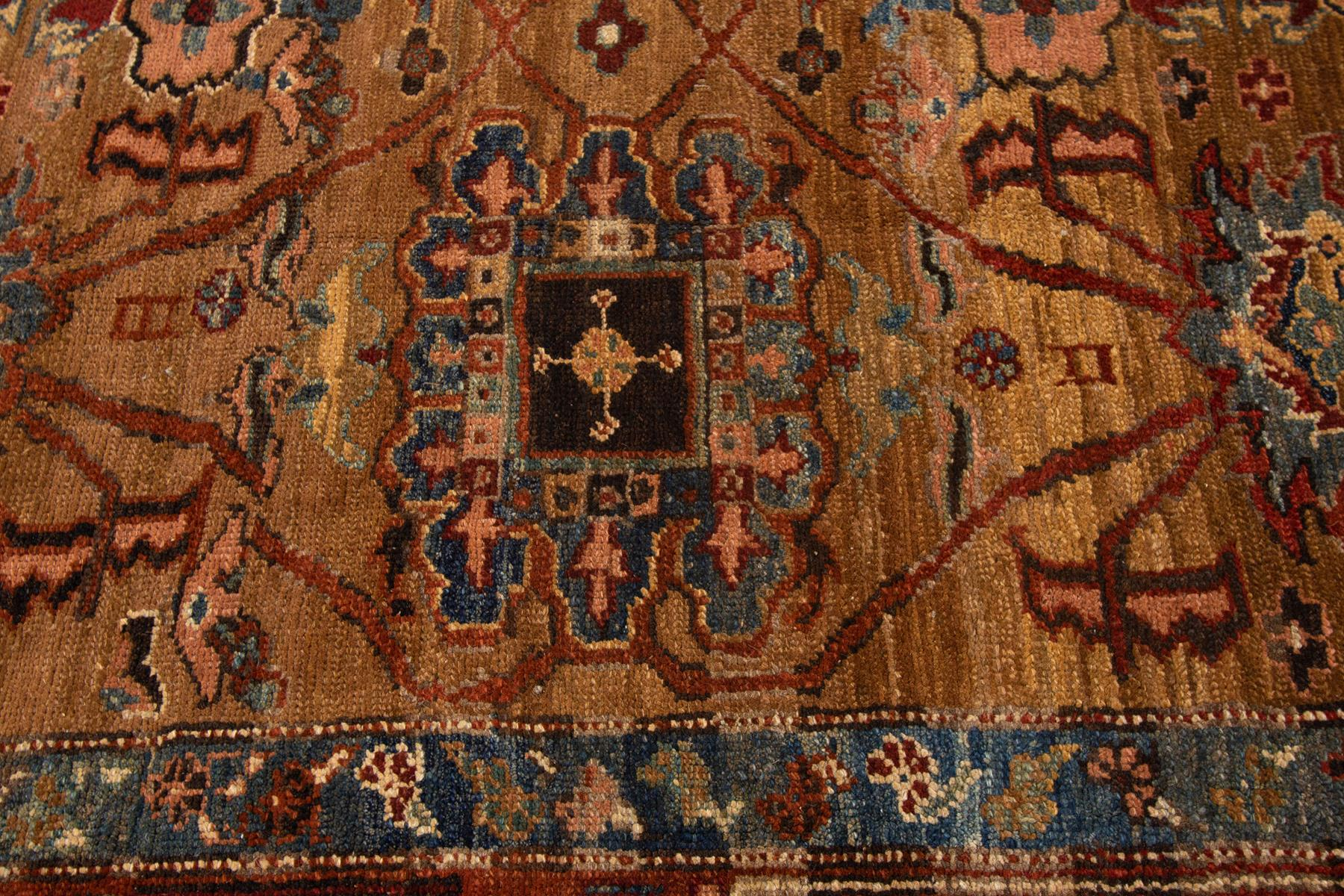 Vintage Persian Tribal Bakshaish Rug, 9X11