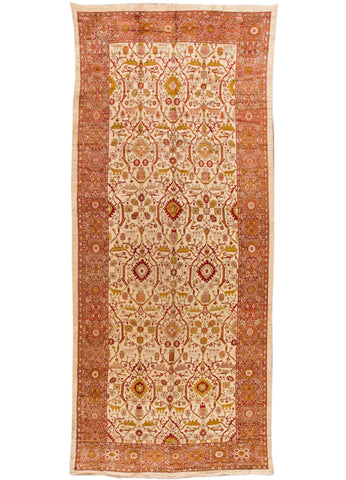 Antique Sultanabad Rug, 10X23