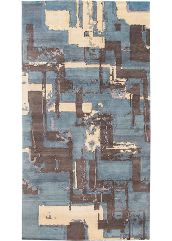 Contemporary Indian Rug, 8X15