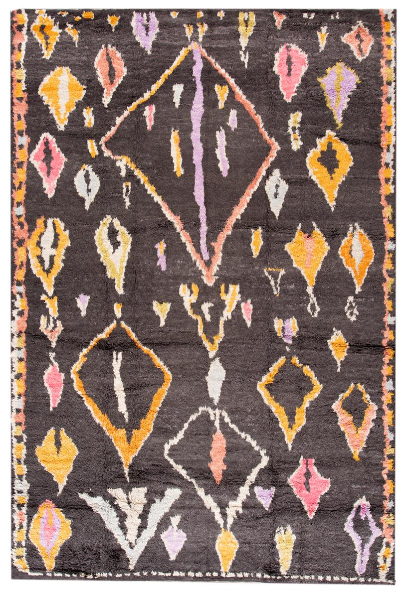 Modern Moroccan Style Rug, 10X14