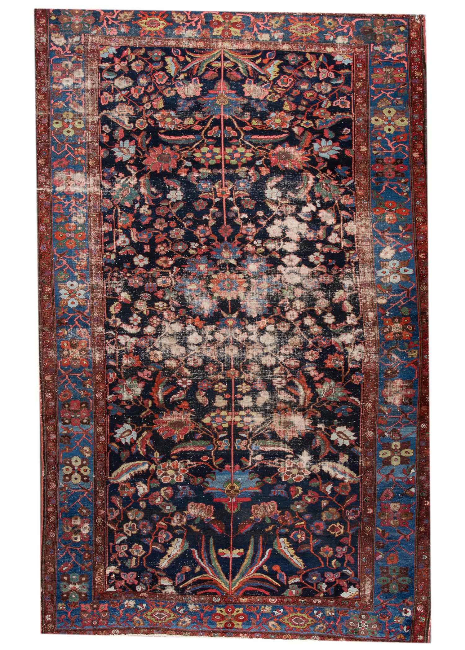 Antique Persian Malayer Rug, 11X16