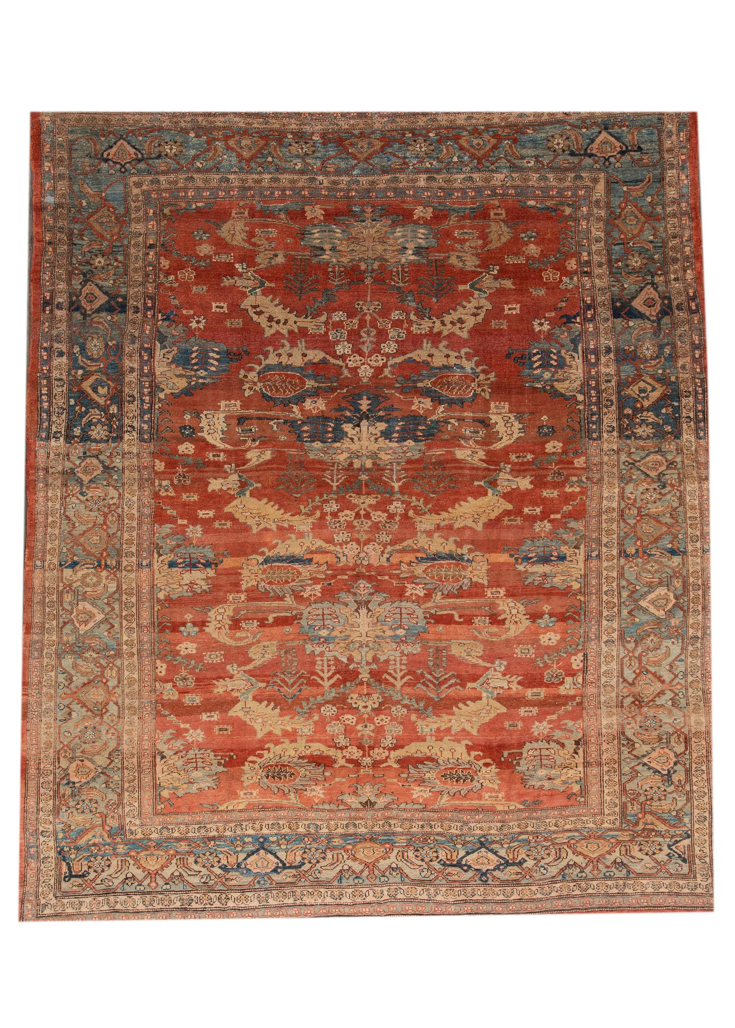 Vintage Persian Tribal Bakshaish Rug, 10X12