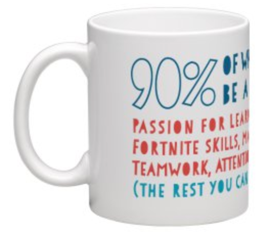 90% of what you need to be a developer (Mug)