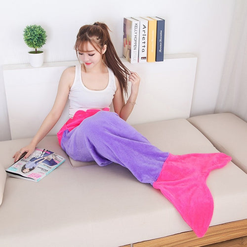 Flannel Fleece Mermaid Blanket