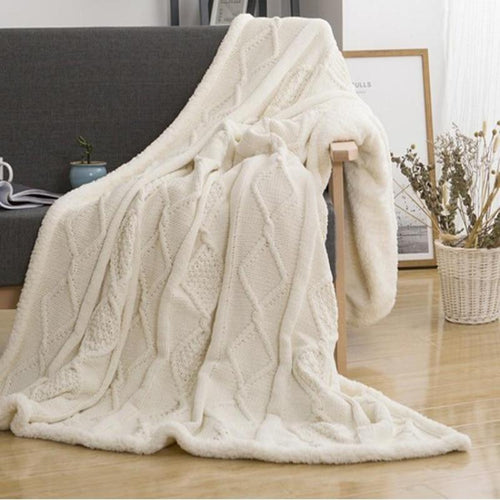 Double Layer Lamb Knitted Blanket