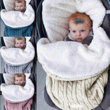 Load image into Gallery viewer, Swaddle Wrap Knitted Blanket