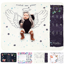 Load image into Gallery viewer, Infant Soft Flannel Milestone Blanket