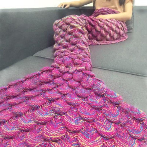 Handmade Mermaid Tail Shape Blanket