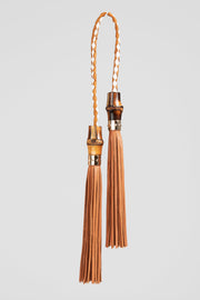 Lanamara - India Bag Charm Tassel in Brown Leather