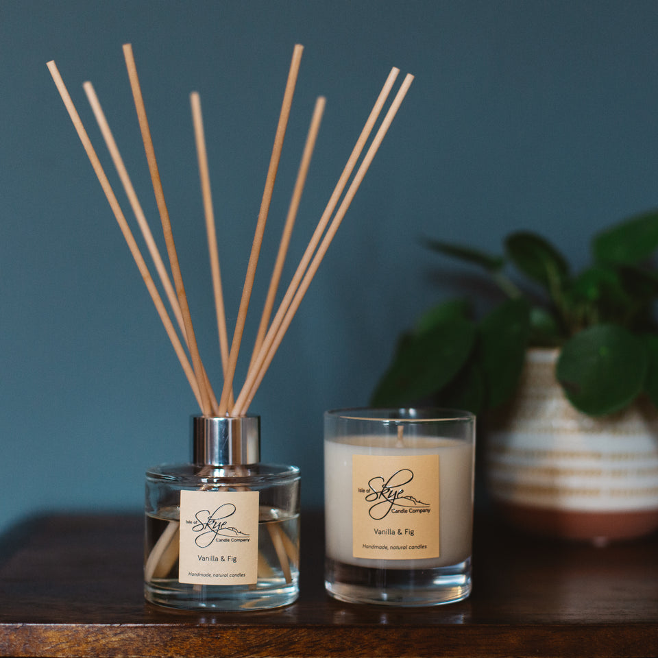 Vanilla and Fig Reed Diffuser and Small Tumbler