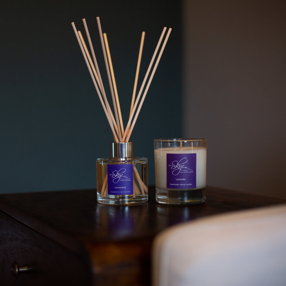 Lavender Reed Diffuser and Small Tumbler