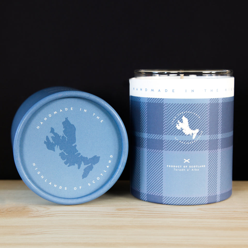 Scottish Bluebell Candle open