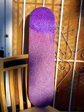 Load image into Gallery viewer, the grimace, a glitter skateboard