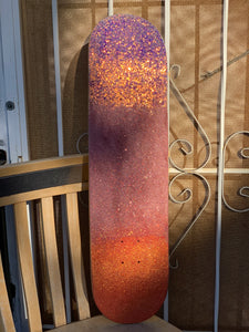 the paloma, a glitter skateboard