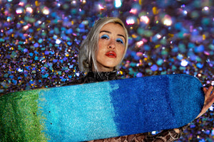 the nickleodeon glitter skateboard deck