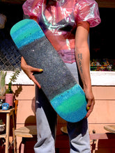 Load image into Gallery viewer, the aqua noodle glitter skateboard