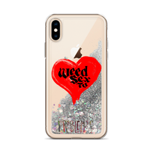 Load image into Gallery viewer, weed sex tv liquid glitter iphone case