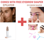 FLEX BROW - GENIUS GOLD PLATED EPILATOR + FREE BROW STENCIL