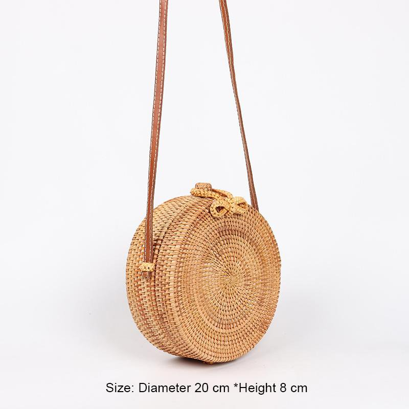 100% HAND-MADE ROUND RATTAN BALI BAG