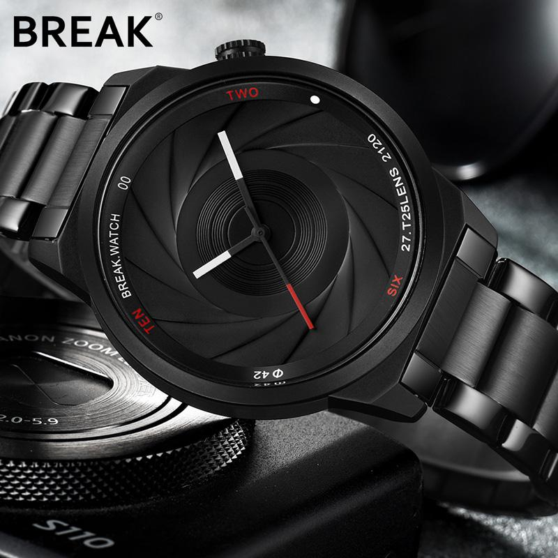 BREAK PHOTOGRAPHY LENS WRISTWATCH