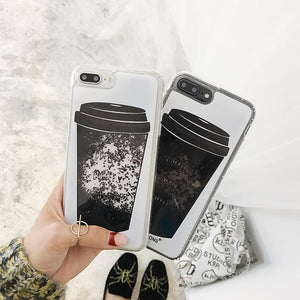 MAGIC COFFEE - MAGIC LIQUID QUICKSAND iPHONE CASE