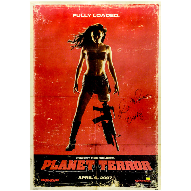 Rose McGowan Autographed Grindhouse Planet Terror Fully Loaded 27x39 Poster
