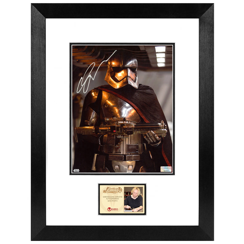 Gwendoline Christie Autographed Star Wars: The Force Awakens Captain Phasma 8x10 Photo