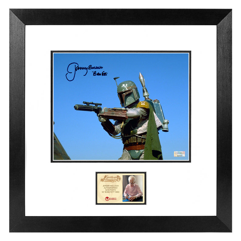 Jeremy Bulloch Autographed Star Wars Boba Fett 8x10 Framed Action Photo