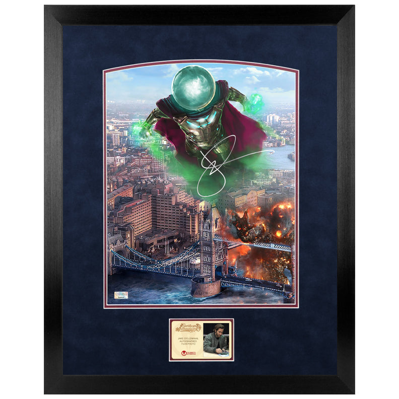 Jake Gyllenhaal Autographed Spider-Man Far From Home Mysterio 11x14 Framed Photo