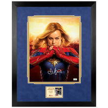 Load image into Gallery viewer, Brie Larson Autographed Captain Marvel Battle Ready 11x14 Photo