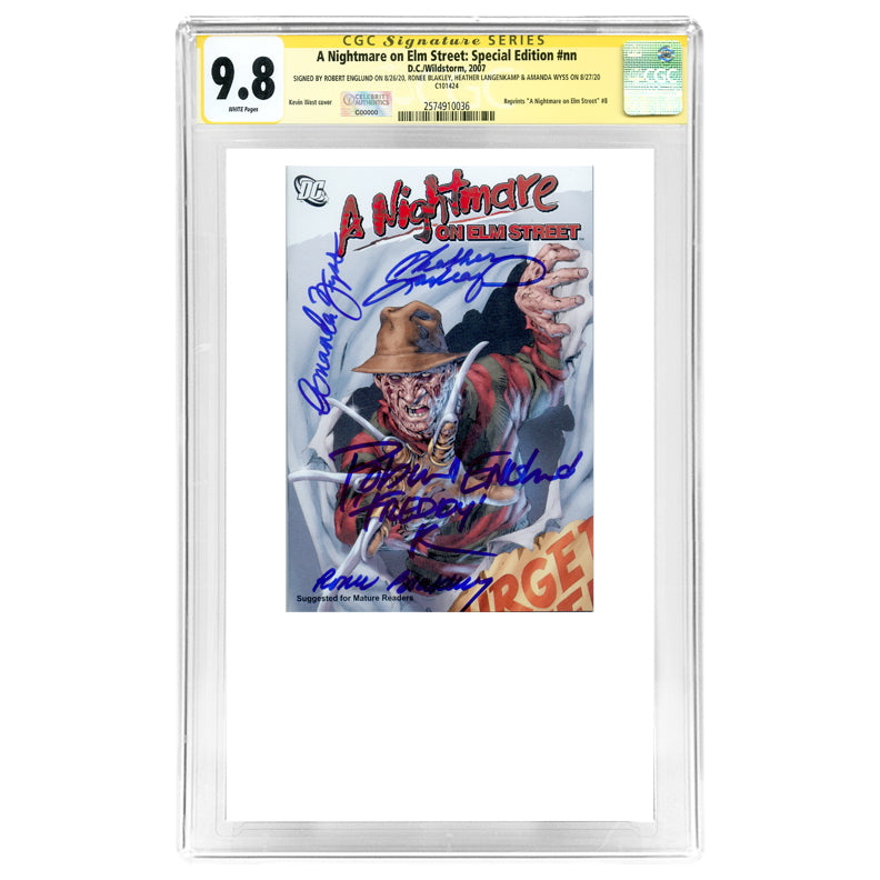 Robert Englund, Ronee Blakley, Heather Lagenkamp, Amanda Wyss Autographed A Nightmare On Elm Street Special Edition #nn CGC SS 9.8 (mint)