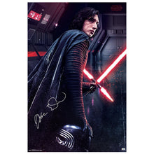 Load image into Gallery viewer, Adam Driver Autographed Star Wars: The Last Jedi Kylo Ren Path Of Darkness 22×34 Poster